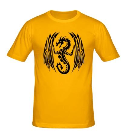 Мужская футболка Дракон с крыльями
