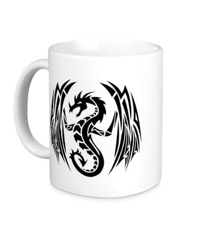 Керамическая кружка Дракон с крыльями