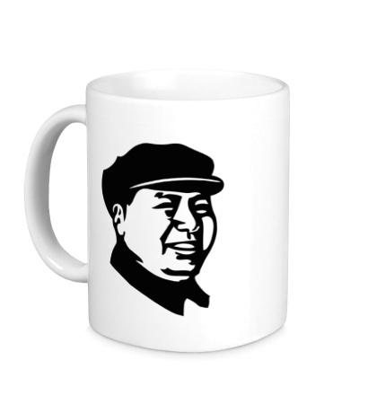 Керамическая кружка Мао Дзе Дун в кепке