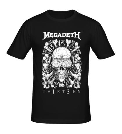 Мужская футболка Megadeth Thirteen