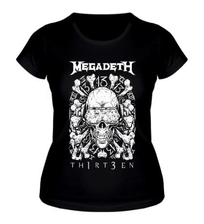 Женская футболка Megadeth Thirteen