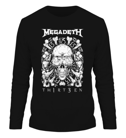 Мужской лонгслив Megadeth Thirteen