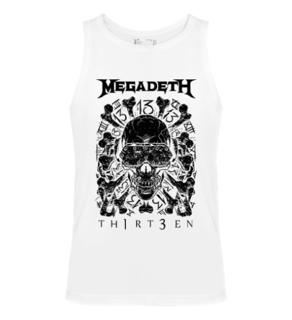 Мужская майка Megadeth Thirteen