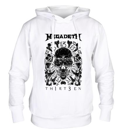 Толстовка с капюшоном Megadeth Thirteen