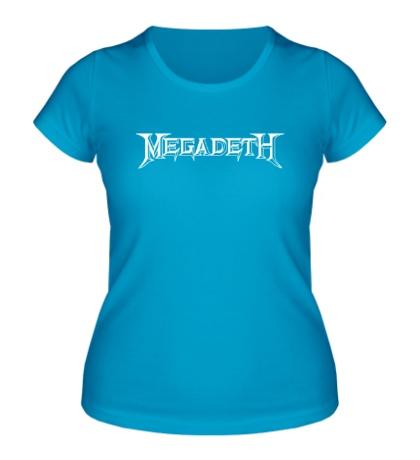 Женская футболка Megadeth