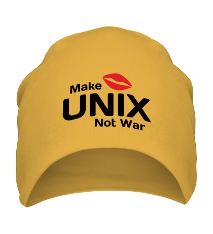 Шапка Make unix, not war
