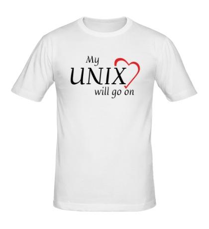 Мужская футболка My Unix will go on