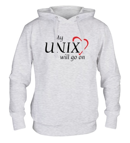 Толстовка с капюшоном My Unix will go on