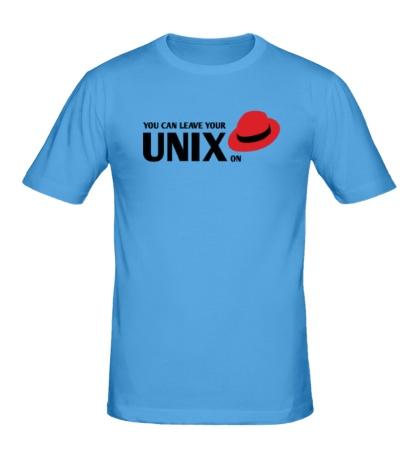Мужская футболка You can leave your Unix on