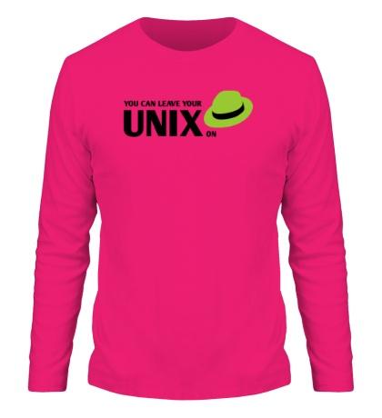 Мужской лонгслив You can leave your Unix on