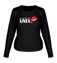 Женский лонгслив You can leave your Unix on