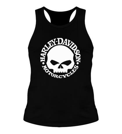 Мужская борцовка Harley-Davidson Skull
