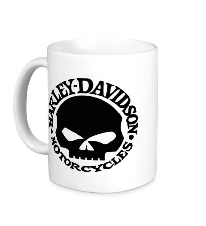 Керамическая кружка Harley-Davidson Skull