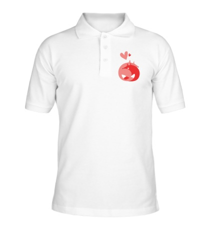 Рубашка поло Лисички обнимаются