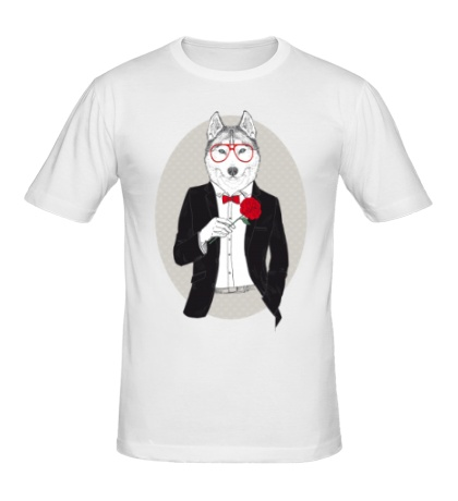 Мужская футболка Волк в смокинге