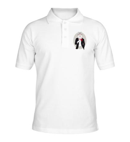 Рубашка поло Волк в смокинге