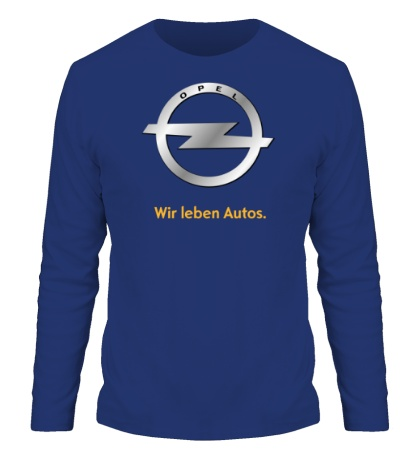 Мужской лонгслив Opel Wir leben Autos