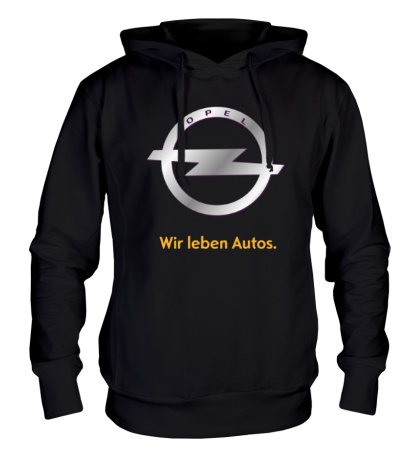 Толстовка с капюшоном Opel Wir leben Autos