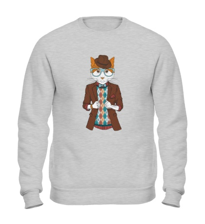 Свитшот Кот в пиджаке