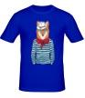 Мужская футболка «Лис в шляпе» - Фото 1