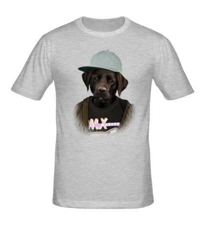 Мужская футболка Модный лабрадор