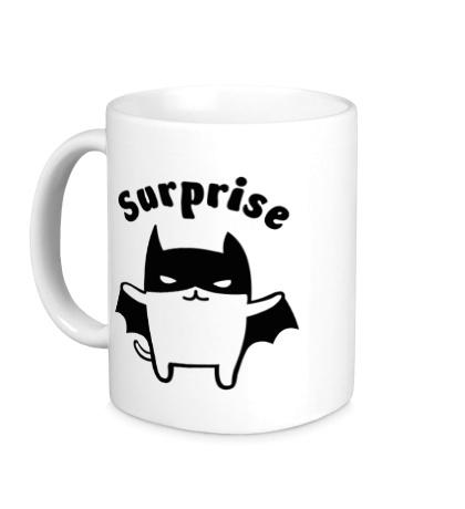 Керамическая кружка Batman Cat: Surprise
