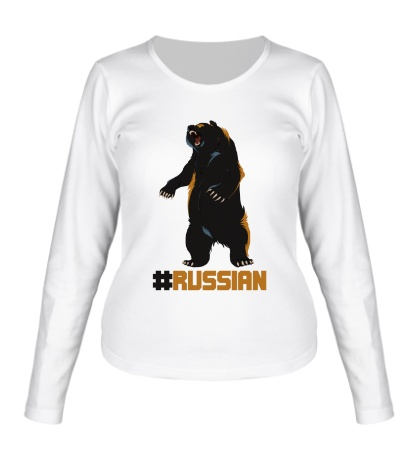 Женский лонгслив Russian