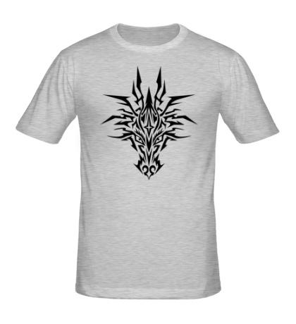 Мужская футболка Мистический тату-дракон