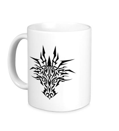 Керамическая кружка Мистический тату-дракон