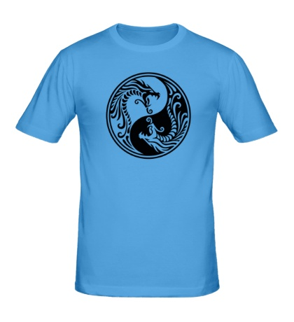 Мужская футболка Драконы Инь-ян