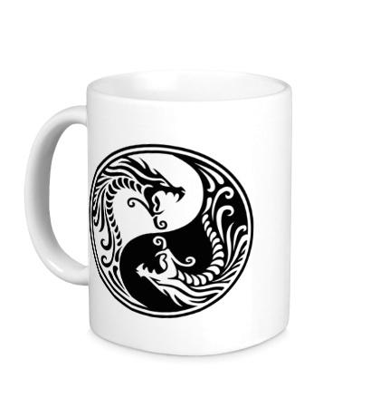 Керамическая кружка Драконы Инь-ян