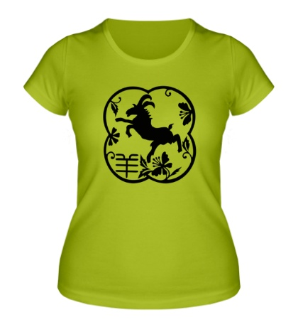 Женская футболка Символ козла