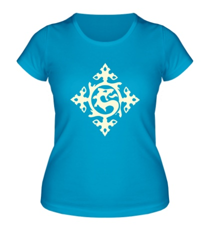 Женская футболка Орнамент с драконом