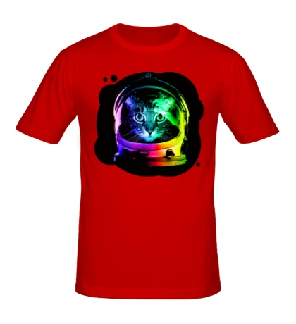 Мужская футболка Cat Astronaut