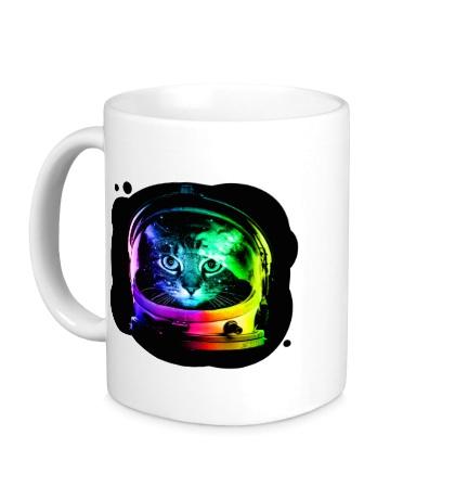 Керамическая кружка Cat Astronaut