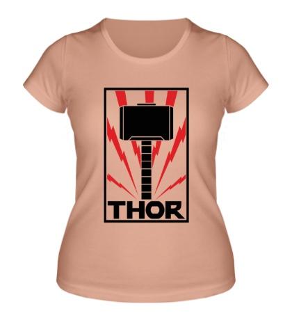 Женская футболка Молот Тора