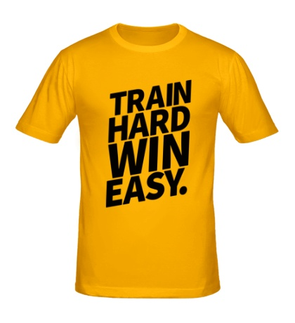 Мужская футболка Train hard win easy