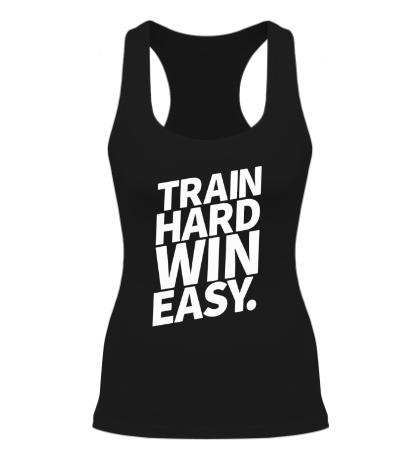 Женская борцовка Train hard win easy
