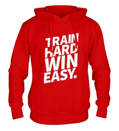Толстовка с капюшоном Train hard win easy