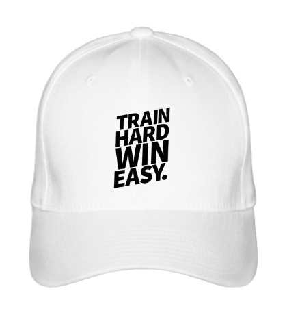 Бейсболка Train hard win easy