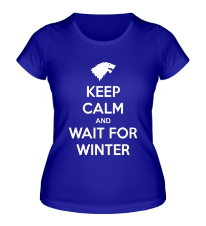 Женская футболка Keep Calm & Wait for Winter