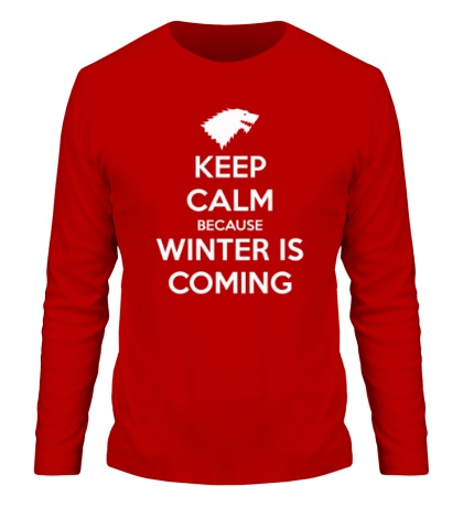Мужской лонгслив Keep Calm & Winter is Coming