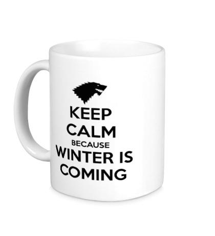 Керамическая кружка Keep Calm & Winter is Coming
