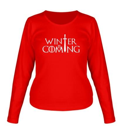 Женский лонгслив Winter is Coming: Logo