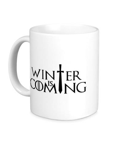 Керамическая кружка Winter is Coming: Logo