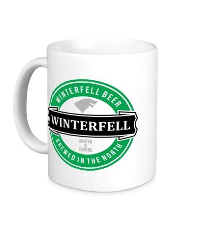 Керамическая кружка Winterfell beer