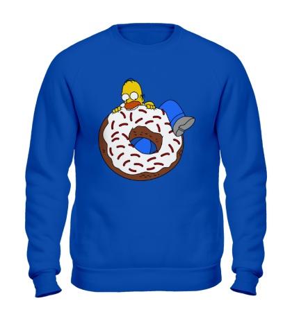 Свитшот Гомер ест пончик