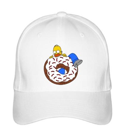 Бейсболка Гомер ест пончик