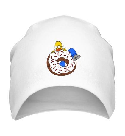 Шапка Гомер ест пончик