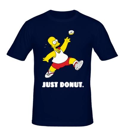 Мужская футболка Гомер Симпсон, Только пончик